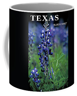 Coffee Mug featuring the mixed media Texas Bluebonnet State Flower by Daniel Hagerman