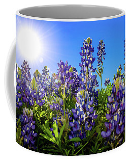 Texas Bluebonnets Backlit II Coffee Mug