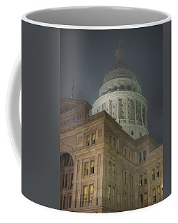 Texas Capitol In Fog Coffee Mug