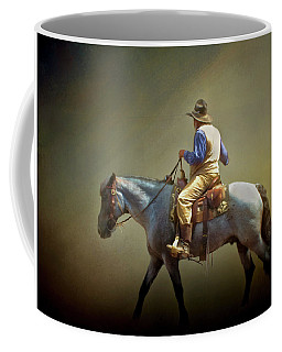 Coffee Mug featuring the photograph Texas Cowboy And His Horse by David and Carol Kelly