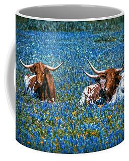 Texas In Blue Coffee Mug