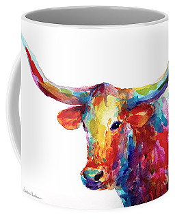 Texas Longhorn Art Coffee Mug