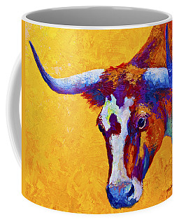 Texas Longhorn Cow Study Coffee Mug