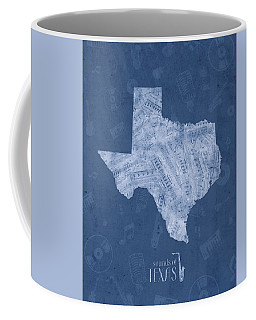 Texas Map Music Notes 5 Coffee Mug