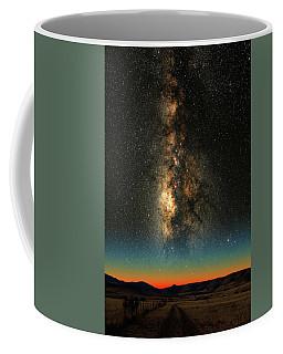 Coffee Mug featuring the photograph Texas Milky Way by Larry Landolfi