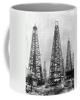 Texas: Oil Derricks, C1901 Coffee Mug