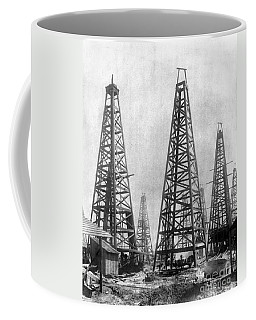 Texas: Oil Derricks, C1901 Coffee Mug