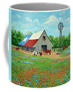Texas Ranch Barn Coffee Mug