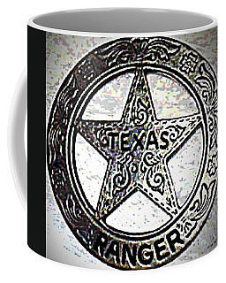 Coffee Mug featuring the photograph Texas Ranger Badge by George Pedro