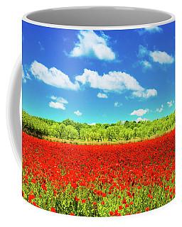 Texas Red Poppies Coffee Mug