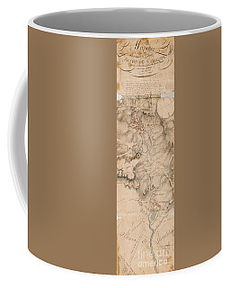 Texas Revolution Santa Anna 1835 Map For The Battle Of San Jacinto  Coffee Mug