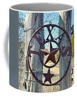 Texas Star Rustic Iron Sign Coffee Mug