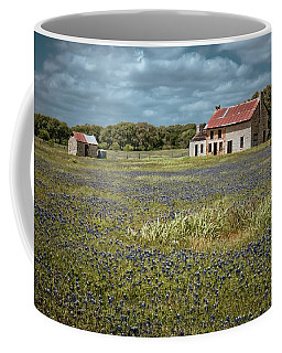 Coffee Mug featuring the photograph Texas Stone House by Linda Unger