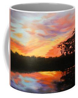 Texas Sunset Silhouette Coffee Mug
