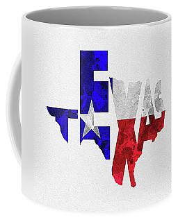 Texas Typographic Map Flag Coffee Mug
