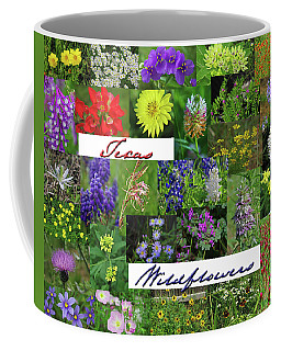 Texas Wildflower Collage Coffee Mug