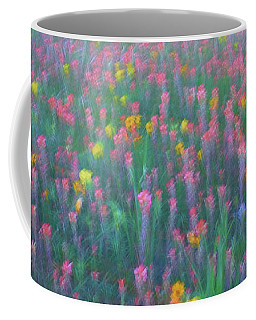 Texas Wildflowers Abstract Coffee Mug