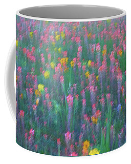Coffee Mug featuring the photograph Texas Wildflowers Abstract by Robert Bellomy