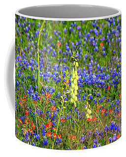 Coffee Mug featuring the photograph Texas Wildflowers by Kathy White