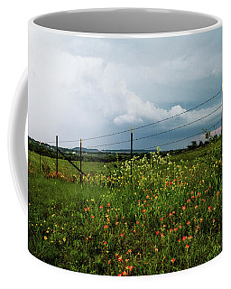 Texas Wildflowers - Vintage Style Photograph Of Central Texas Landscape Coffee Mug