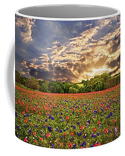 Texas Wildflowers Under Sunset Skies Coffee Mug