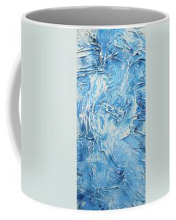Textured Blue And White Series 3 Coffee Mug