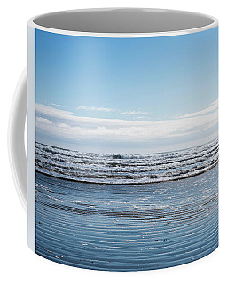Textured Blues Coffee Mug