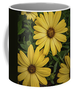 Textured Floral Coffee Mug