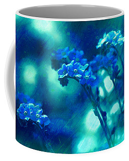 Coffee Mug featuring the digital art Textured Forget Me Nots by Fine Art By Andrew David