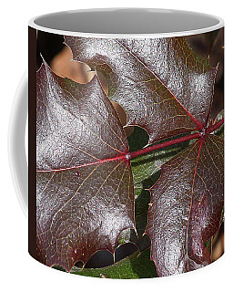 Coffee Mug featuring the photograph Textured Leaves by Doris Potter