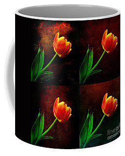 Textured Tulips Coffee Mug