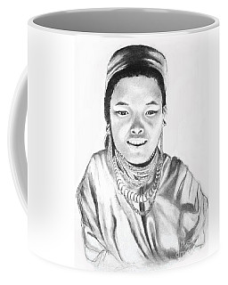 Thai Girl C. 1980 -- Portrait Of Asian Girl Coffee Mug