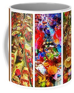 Thai Market Triptych Coffee Mug