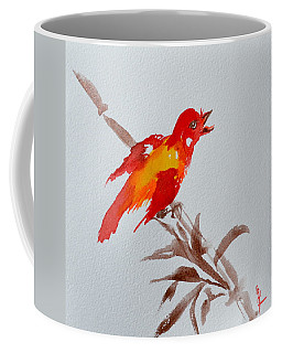 Thank You Bird Coffee Mug by Beverley Harper Tinsley