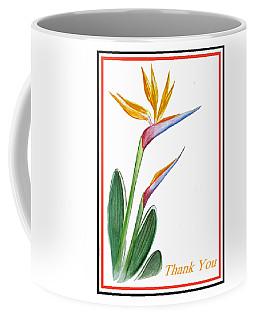 Thank You Bird Of Paradise Coffee Mug