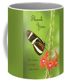 Thank You - Butterfly Coffee Mug