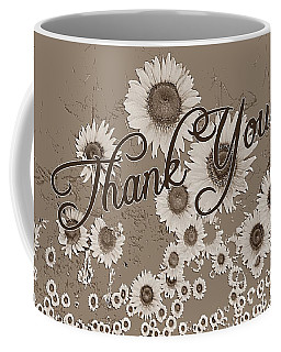 Thank You Card Daisies Coffee Mug
