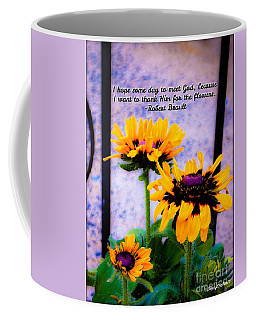 Thank You For The Flowers  Coffee Mug by MaryLee Parker