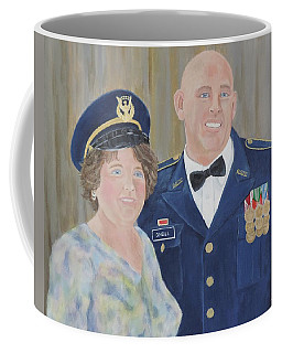 Coffee Mug featuring the painting Thank You Mom by Margaret Bobb