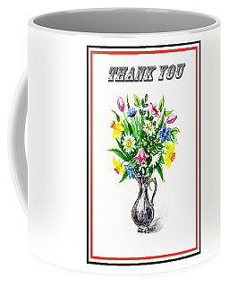 Thank You Spring Flowers Coffee Mug