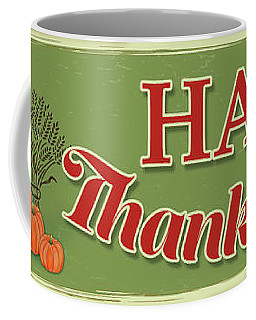 Coffee Mug featuring the painting Thanksgiving-c by Jean Plout