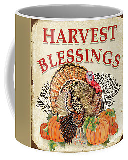 Coffee Mug featuring the painting Thanksgiving-e by Jean Plout