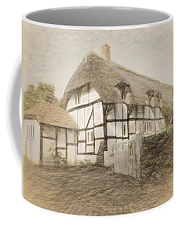 Thatched Cottage In Micheldever Coffee Mug