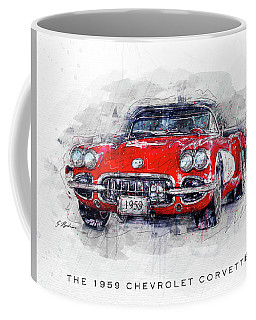 The 1959 Chevrolet Corvette Coffee Mug