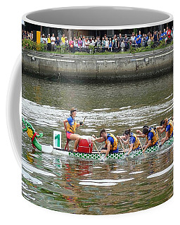 Coffee Mug featuring the photograph The 2016 Dragon Boat Festival In Taiwan by Yali Shi