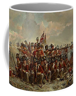 Coffee Mug featuring the painting The 28th Regiment At Quatre Bras by Elizabeth Butler