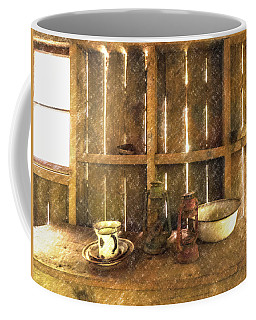 Coffee Mug featuring the digital art The Abandoned Cabin by Steve Taylor