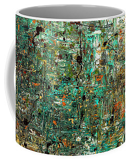 Coffee Mug featuring the painting The Abstract Concept by Carmen Guedez