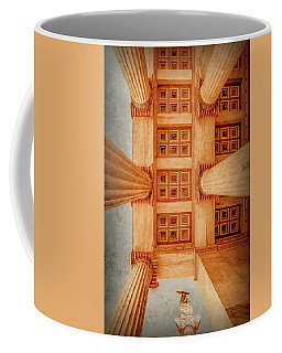 Coffee Mug featuring the photograph Athens, Greece - The Academy Entry Soffit by Mark Forte