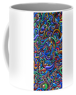Colorful Abstract Art Abstract Painting Colorful Chromatic Acrylic Painting Coffee Mug